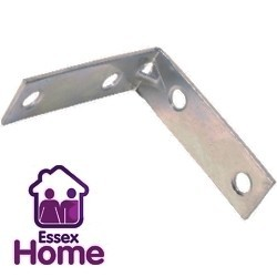 "2 1/2"" Corner Brace Brackets Zinc Plated  64 x 64 x 16.5mm"