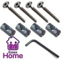 M6 X 100 Furniture Pack - Flat Sockets, Barrel Nuts & Key