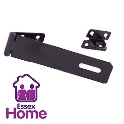 "6"" Black Safety Hasp & Staple - 150mm"