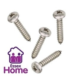 "4 X 3/8"" PAN POZI SELF TAPPING SCREWS ZINC BZP - 2.9 X 9.5MM"