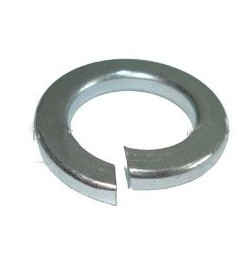 M6 SPRING COIL WASHERS BZP ZINC PLATED