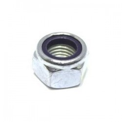 M8 Nyloc Nuts Zinc Plated BZP