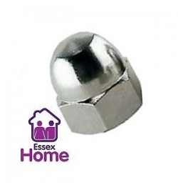 M6 DOME NUTS ZINC PLATED BZP
