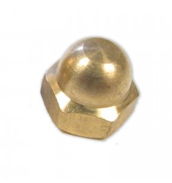 M4 DOME NUTS BRASS