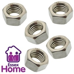 M10 Hexagon Full Nuts Zinc Plated BZP