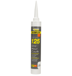 Everbuild 125 One Hour Caulk White - 6 Tubes