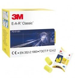 3M EAR Classic Foam Ear Plugs - 250 Box