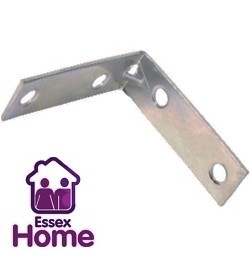 "2 1/2"" Zinc Plated Corner Brace - Steel 65mm"