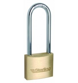 40mm Sterling Long Shank Brass Padlock - 1 1/2""
