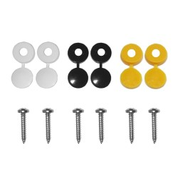 NUMBER PLATE FIXING KIT - 12 PIECE