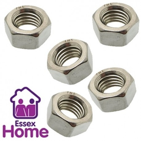 M12 Hexagon Full Nuts Zinc Plated BZP