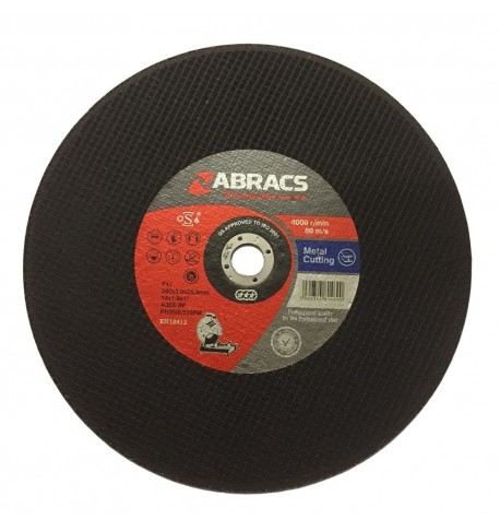 "Abracs 350 x 3 x 25.4mm Flat Metal Cutting Disc 14"" - 10 Pack"